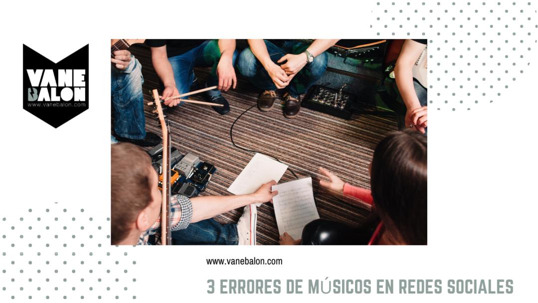 Errores de músicos en redes sociales